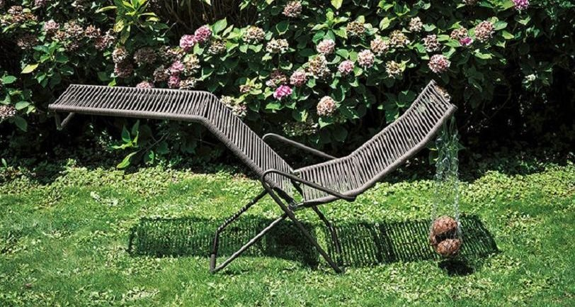 Butaca de jardín reclinable