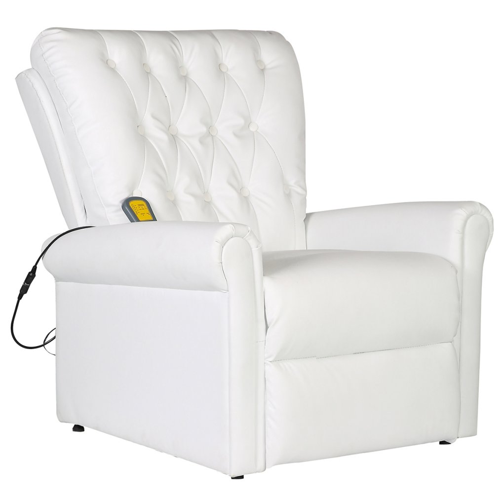 Sillón reclinable blanco