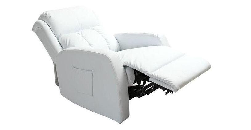 Sillón relax barato blanco