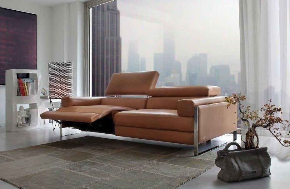 Sofá reclinable de cuero