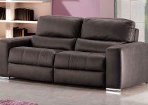 Sofá reclinable eléctrico de piel natural